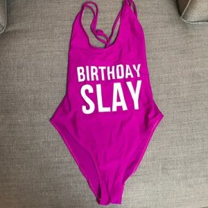 cfd11a958ed Swim | Birthday Slay Bathing Suit | Poshmark